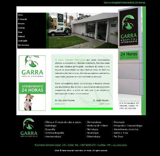Site Garra Hospital Veterinário - http://www.garra.vet.br