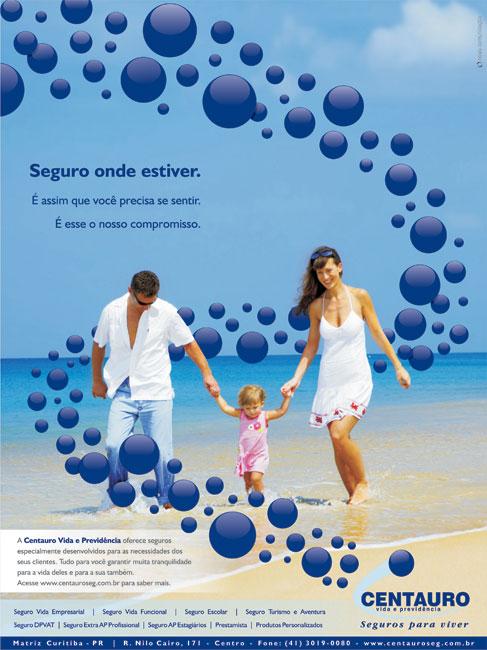Anúncio Centauro Vida e Previdência