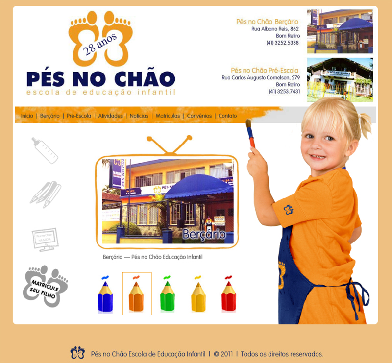 Home - Escola de Educação Infantil Pés no Chão