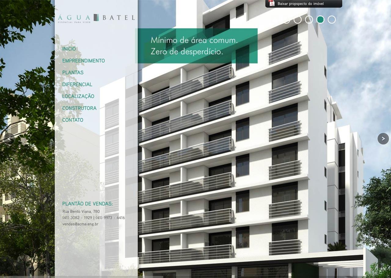 Hot Site – Água Batel ACMA – Construções Civis
