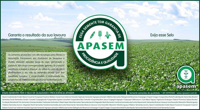 As sementes do Paraná hoje têm selo de garantia